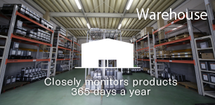 Warehouse:Closely monitors products  365 days a year